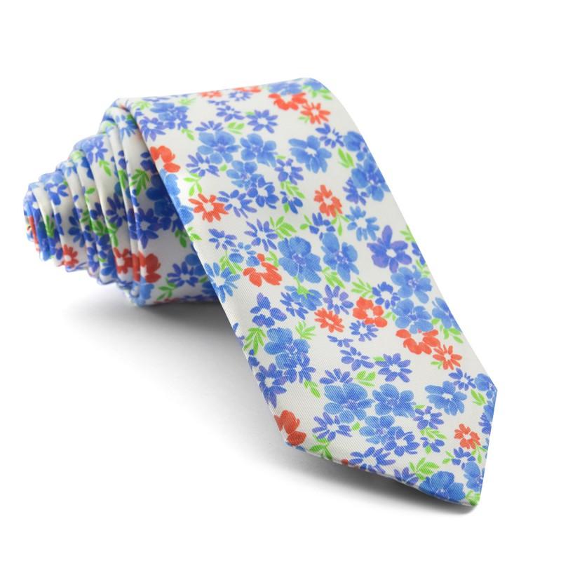 Corbata Blanca Flores