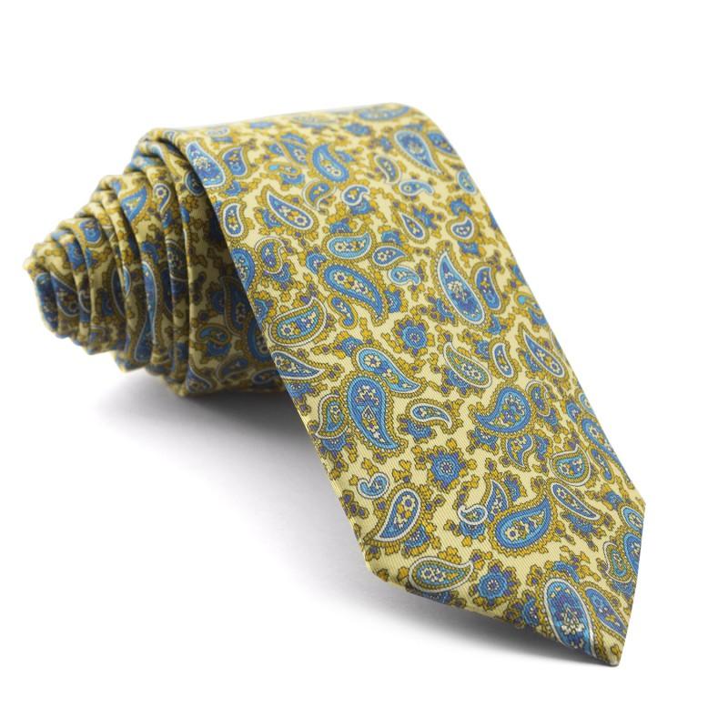 Corbata Amarilla Cachemir