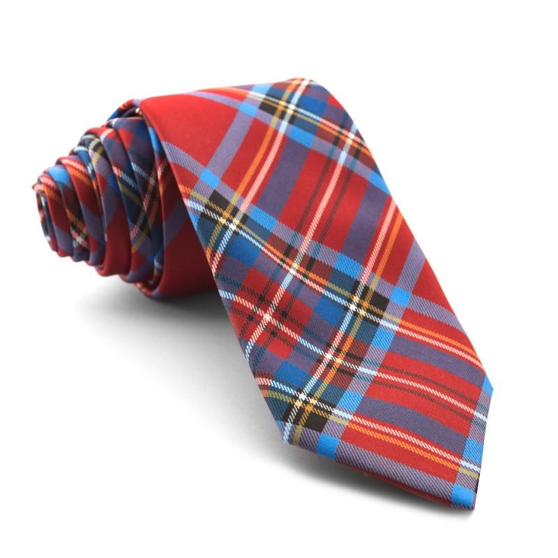 Corbata Cuadros Rojos