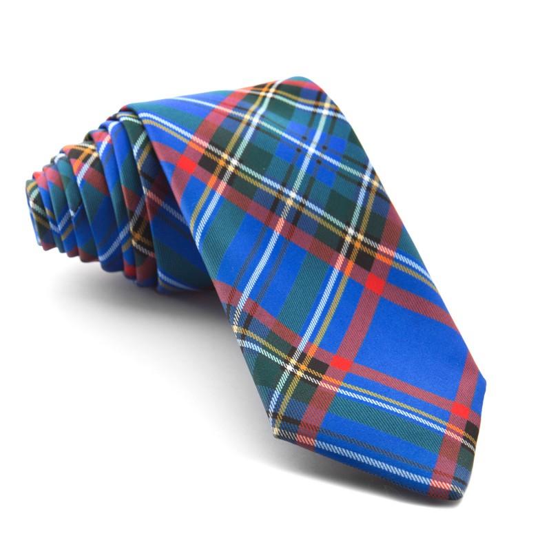 Corbata Cuadros Azul