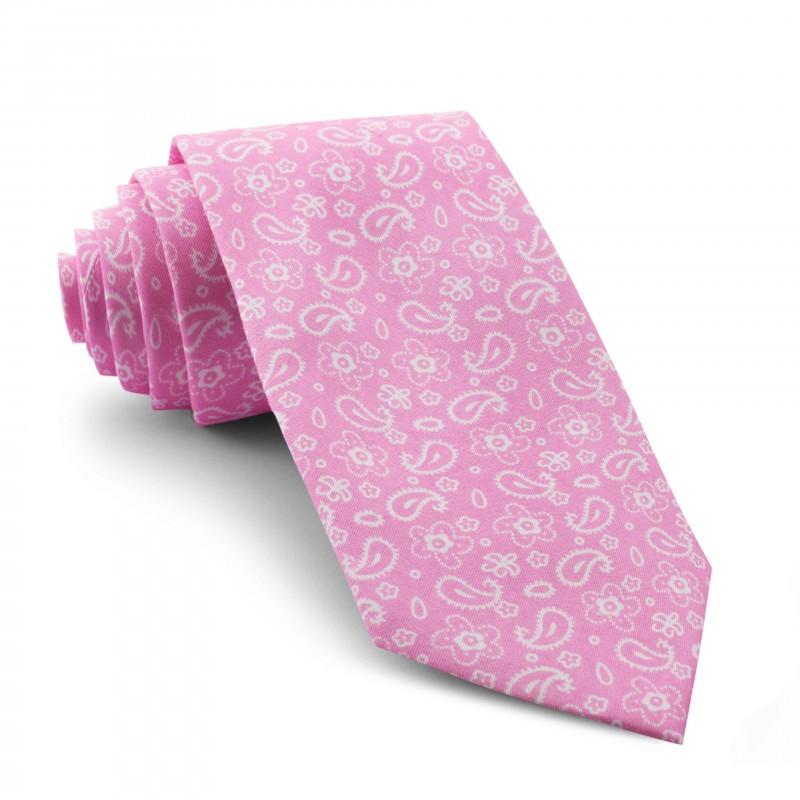 Corbata Rosa Cachemir