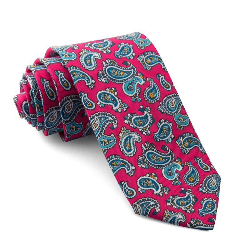 Corbata Fucsia Cachemir