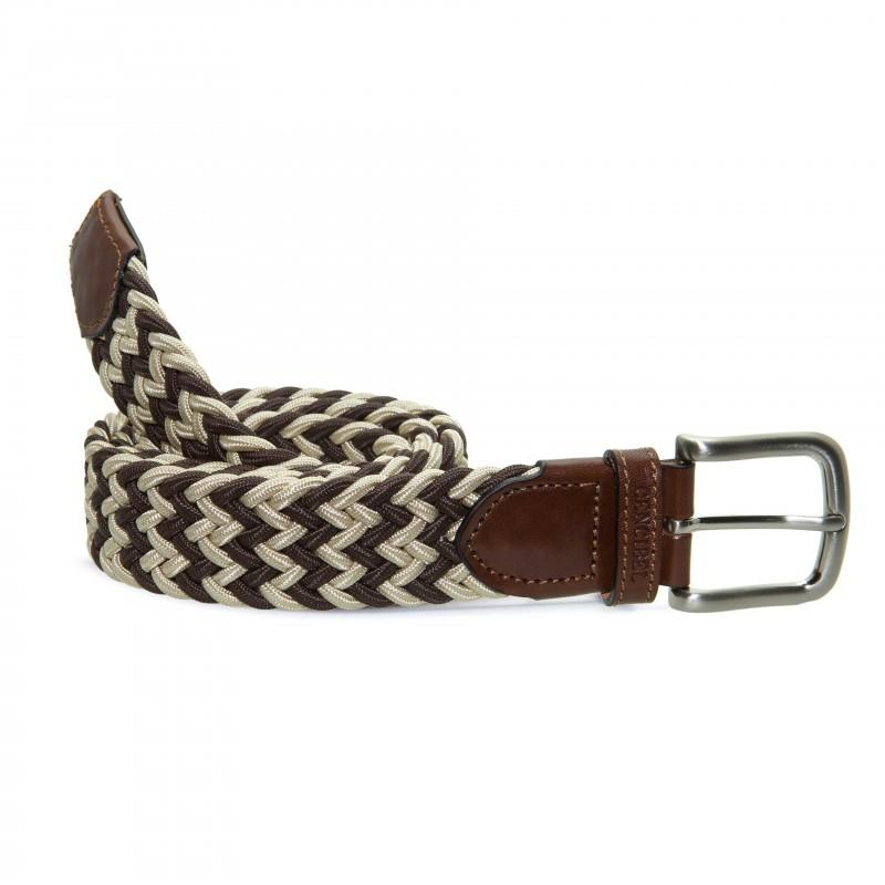 Cinturón Elástico Bicolor Marrón