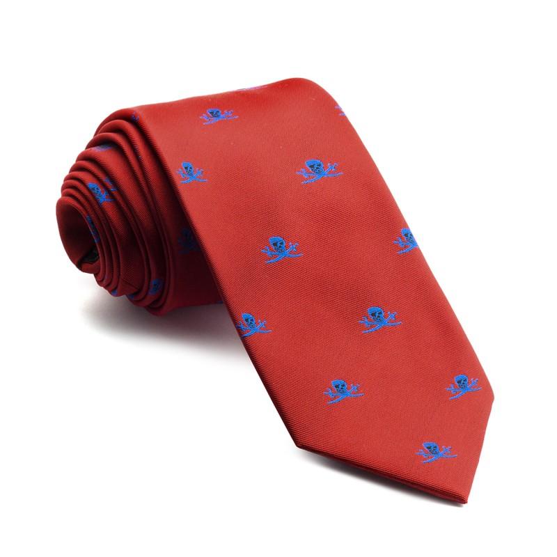 Corbata Roja Piratas Azules