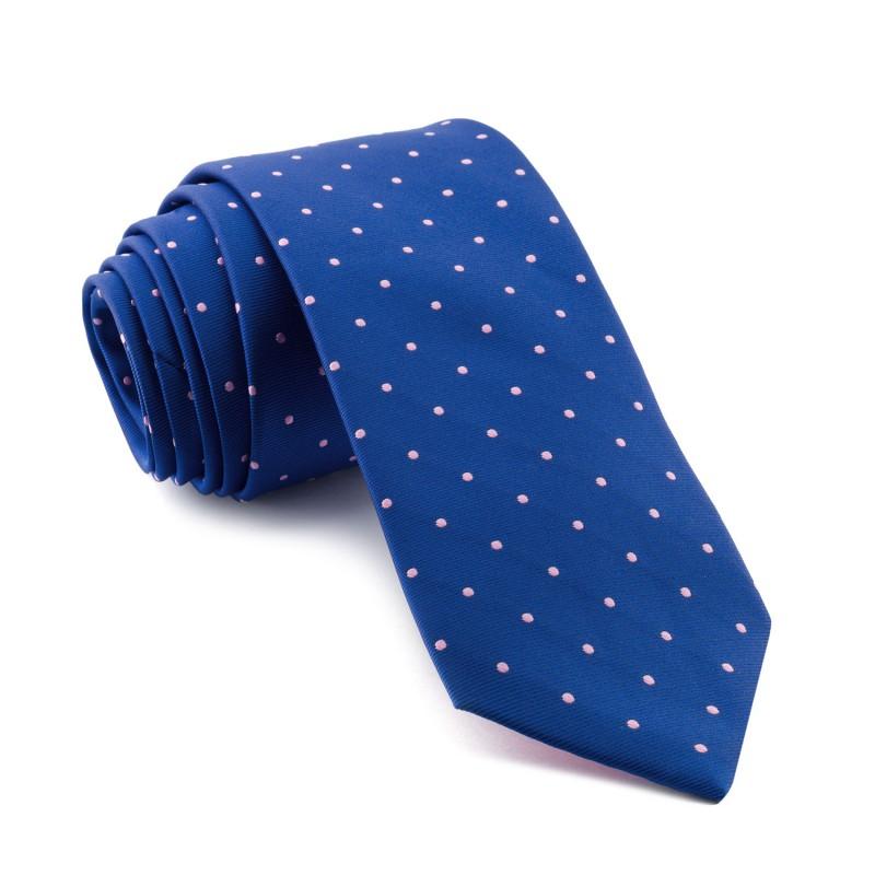 Corbata Azul Lunares Rosas