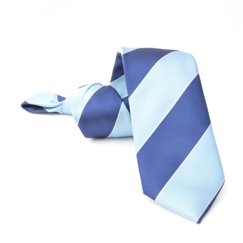 Corbata Rayas Azules y Celestes