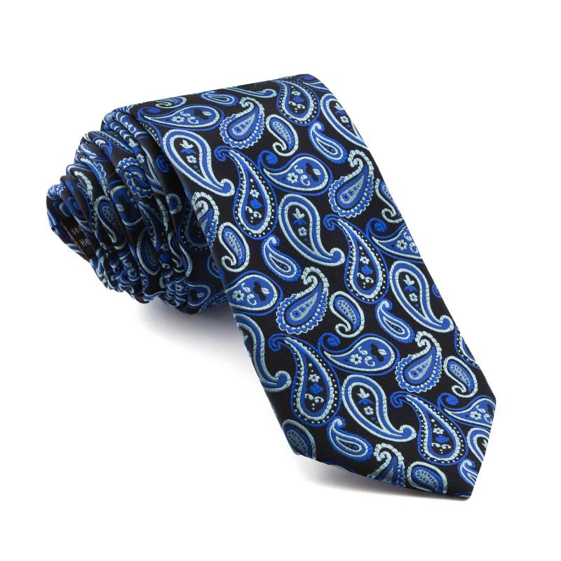 Corbata Marino Cachemir Tonos Azules