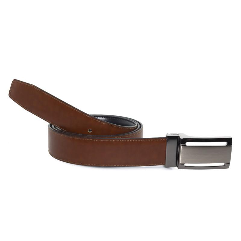Cinturón Piel Reversible en Cognac