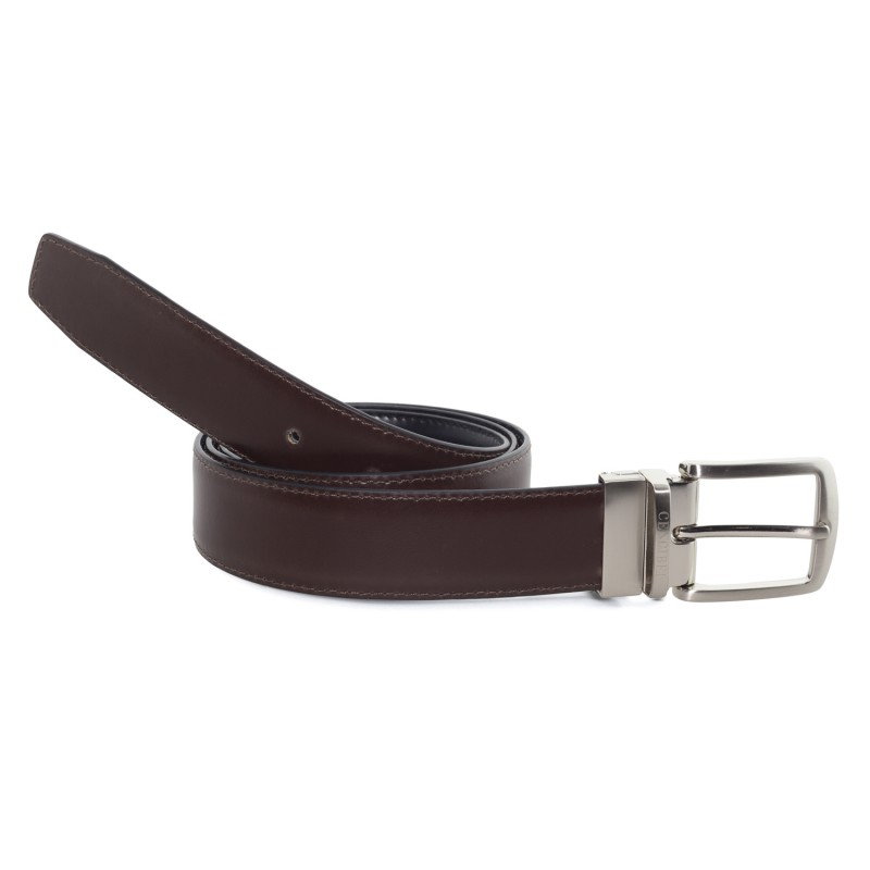 Cinturón Piel Reversible Marrón