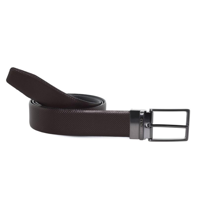 Cinturon Reversible Pata de Gallo para hombre
