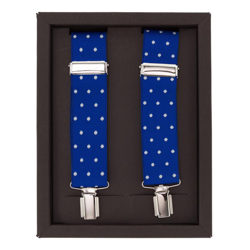 Tirantes Azules con Lunares Blancos
