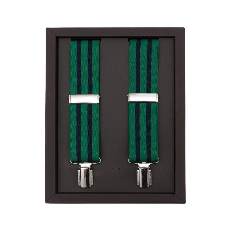 Tirantes Rayas Verde-Negro