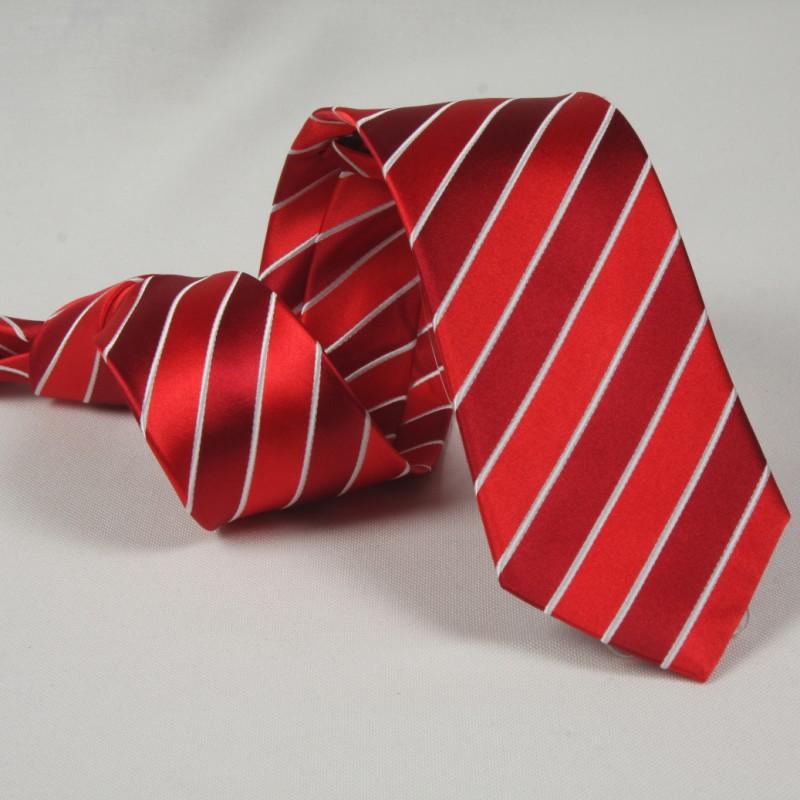 Corbata Rayas Rojas