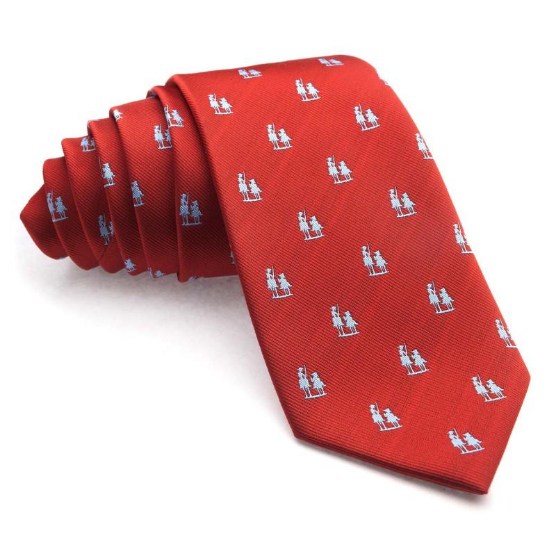 Corbata Roja con dibujos del Quijote