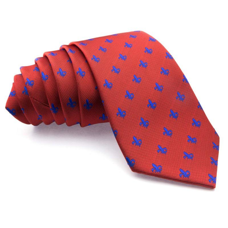 Corbata Roja Flor de Lis