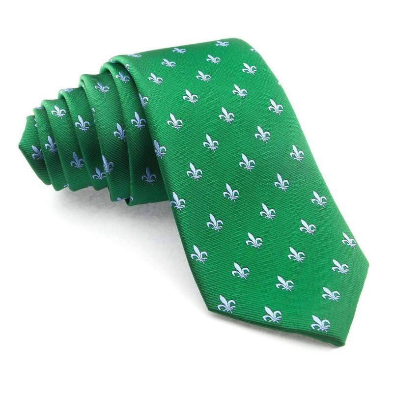 Corbata Verde Flor de Lis