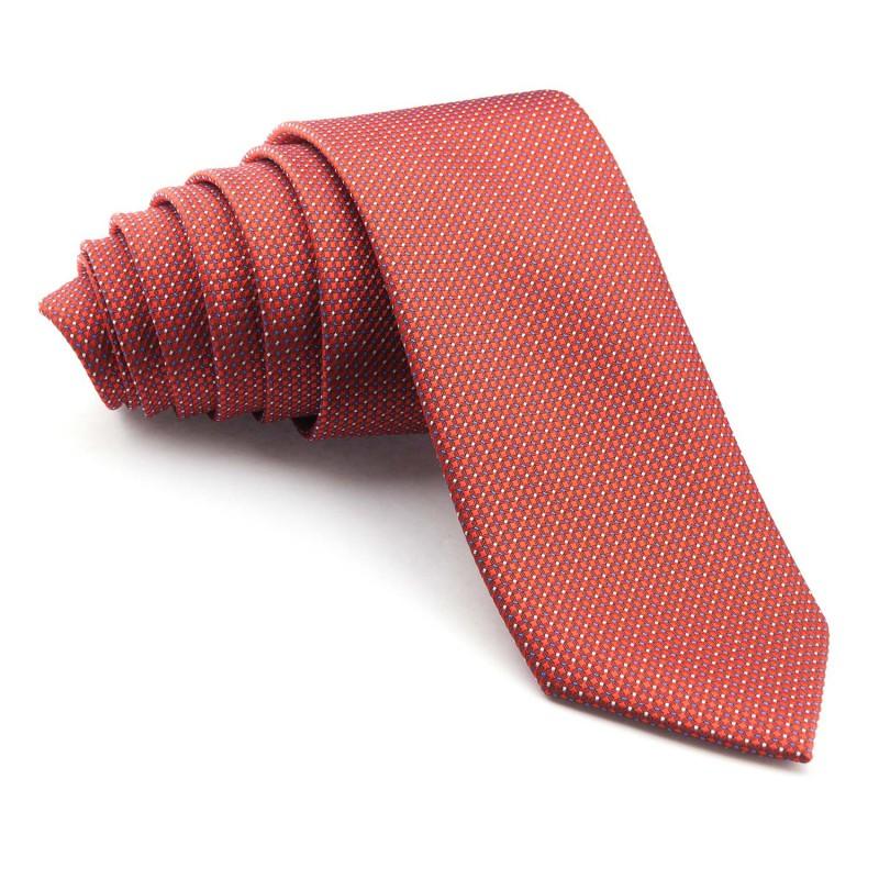 Corbata Roja con dibujos Geométricos