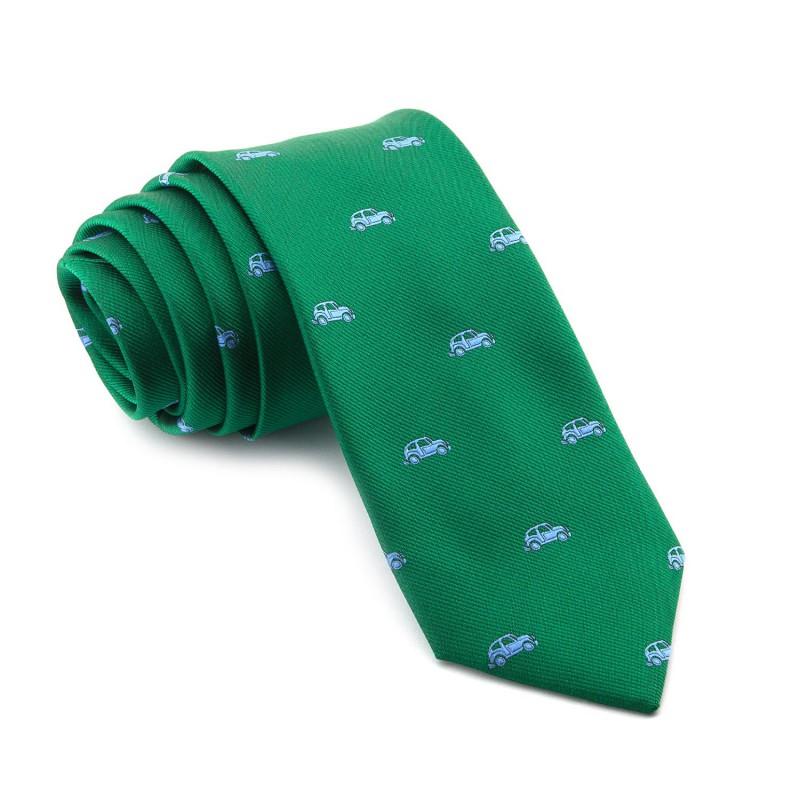 Corbata Verde Coches Azules