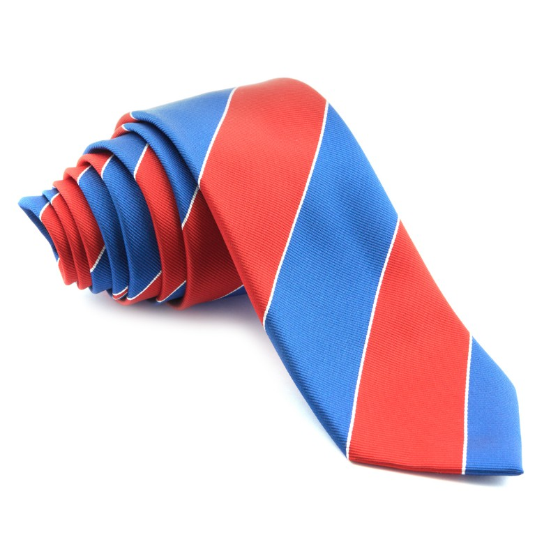 Corbata Rayas Anchas Azules y Rojas