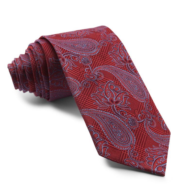Corbata Burdeos Cachemir con dibujos