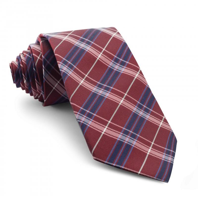 Corbata Cuadros Burdeos