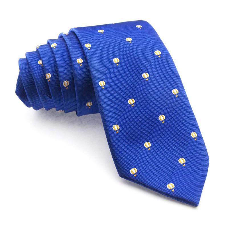 Corbata Azul Globos