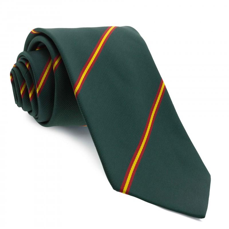 Corbata Verde con Rayas colores de España