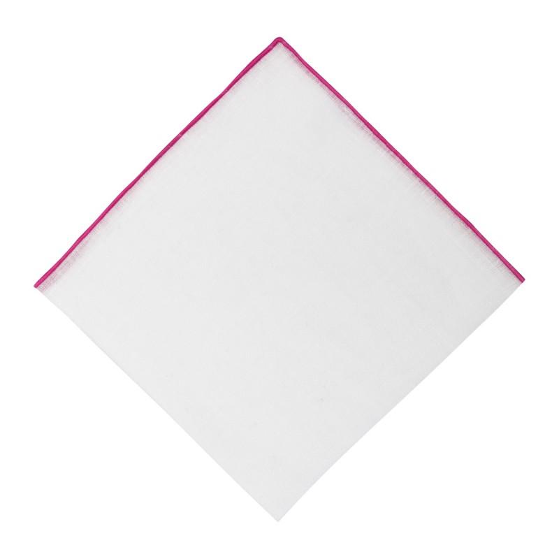 Pañuelo Lino Contraste Rosa