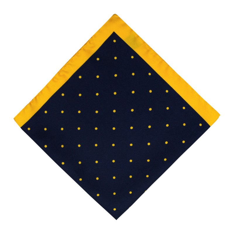 Pañuelo Marino Lunares Amarillos