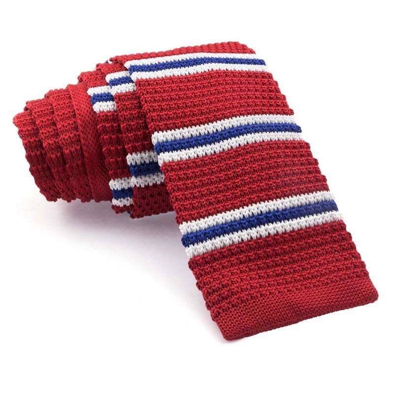Corbata Punto Roja Rayas