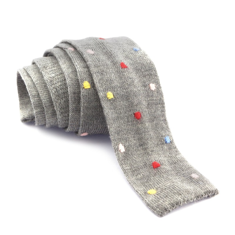 Corbata Lana Lunares