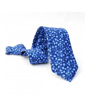Corbata Azul Flores Azules