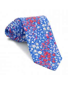 Corbata Azul Flores Colores