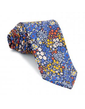 Corbata Marino Flores Colores