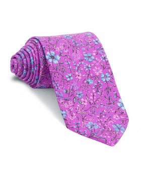 Corbata Buganvilla Flores Celestes