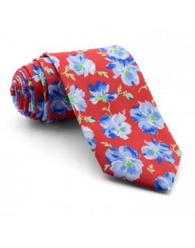 Corbata Roja Flores