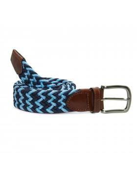 Cinturón Elástico Bicolor Azul para hombre