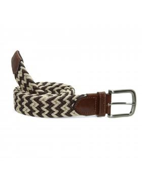 Cinturón Elástico Bicolor Marrón para hombre