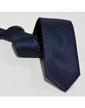 Corbata Marino Lunares Pequeños Amarillos