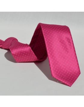 Corbata Rosa Lunares Blancos