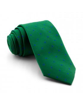 Corbata Verde Lunares Azules