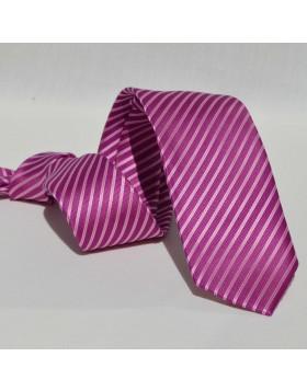 Corbata Morada Rayas Rosas