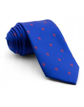 Corbata Azul Cruz de Santiago Rojo