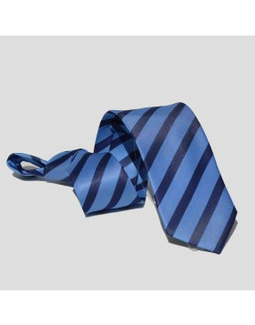Corbata Celeste Rayas Azules