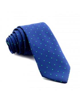 Corbata Azul Lunares Verdes