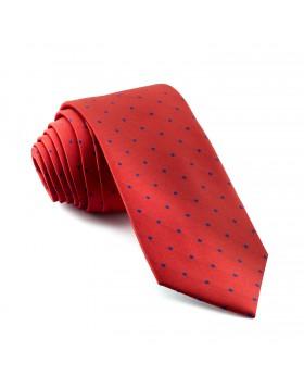 Corbata Roja Lunares Marinos