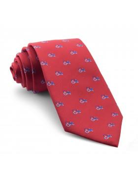 Corbata Roja Tractores Azules