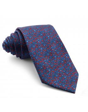 Corbata Azul Flores