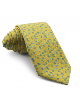 Corbata Amarillo Flores