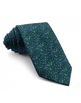 Corbata Verde Turquesa Flores